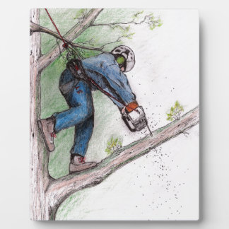 Tree Surgeon Arborist Lumberjack Plaque