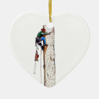 Tree Surgeon Arborist Stihl Ceramic Heart Decoration