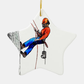 Tree Surgeon Arborist Stihl Ceramic Star Decoration