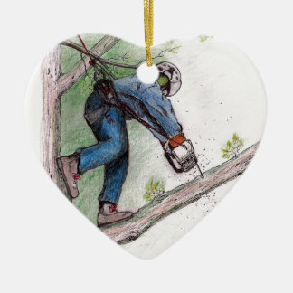 Tree Surgeon Arborist Stihl Christmas Ornament