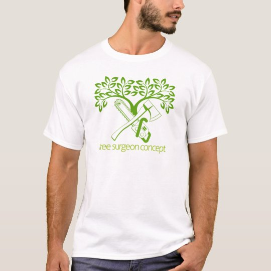 Tree Surgeon Axe and Cainsaw Design T-Shirt
