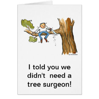 tree surgeon card