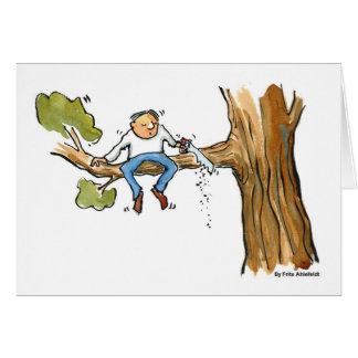 tree surgeon greeting card