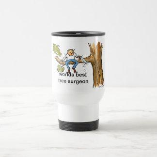 tree surgeon stainless steel travel mug