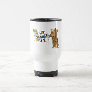 Tree surgeon stainless steel travel mug