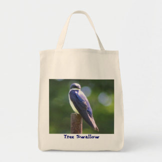 Tree Swallow Grocery Tote Bag