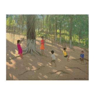 Tree Swing Elephant Island Bombay 2000 Wood Print