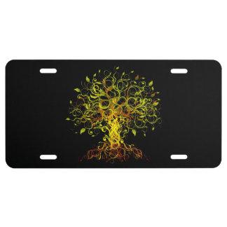Tree Swirls License Plate