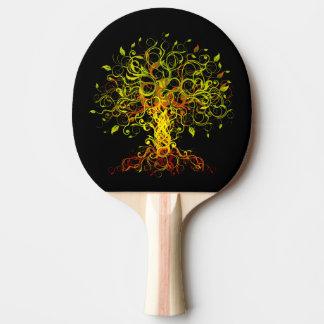 Tree Swirls Ping Pong Paddle