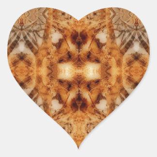 tree symmetry heart sticker