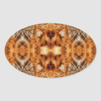 tree symmetry oval sticker