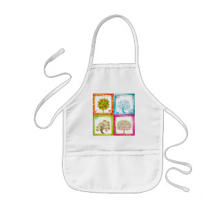 Tree tiles 2x2 kids apron
