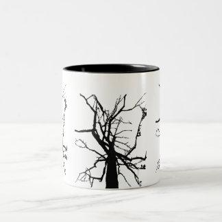 Tree Top Abstract Two-Tone Mug