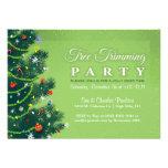 Tree Trimming Party Invitation - Green Tree