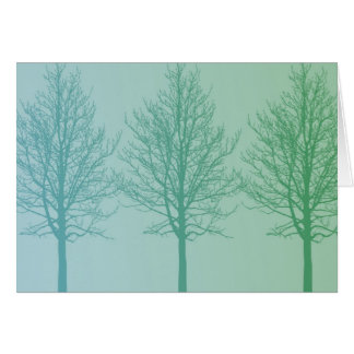 Tree Trio Greeting Card