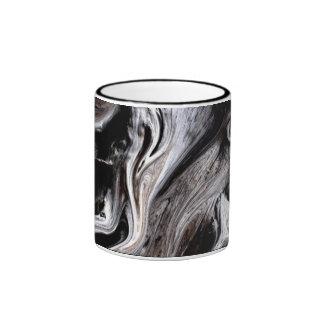 """""""TREE TRUNK"""" 11 oz. BLACK RINGER COFFEE MUG"""