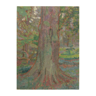 Tree Trunk, 1916 (oil on canvas) Wood Wall Decor
