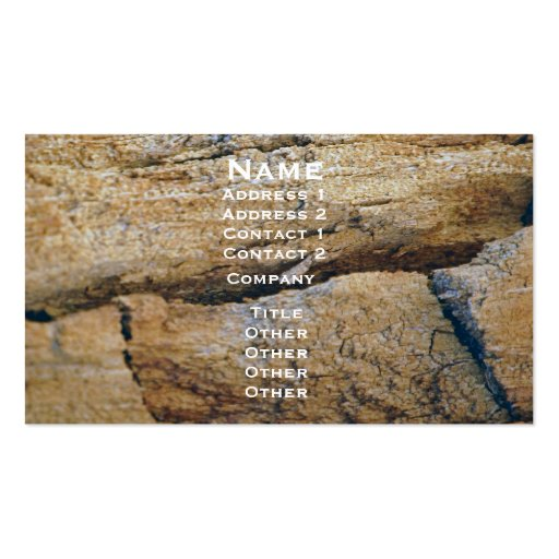 Tree Trunk Image Business Card