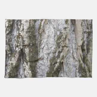tree trunk tea towel