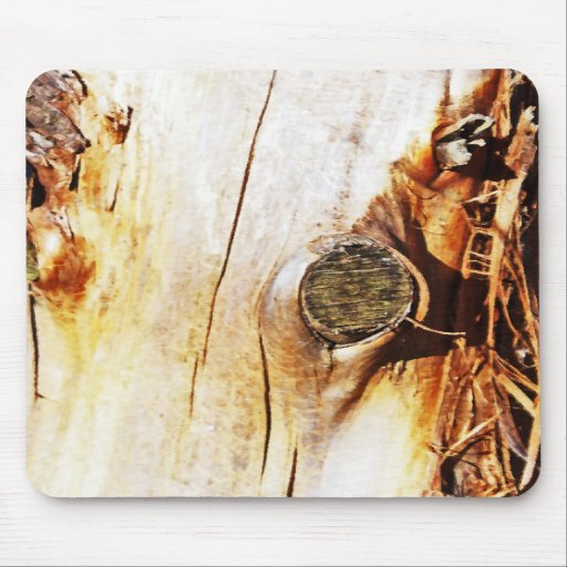 Tree Trunk with Knots Mouse Pads