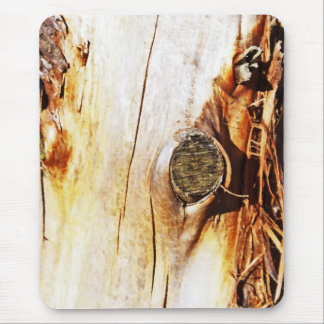 Tree Trunk with Knots Mouse Pad