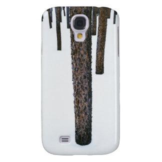 Tree Trunks in Snow Galaxy S4 Case