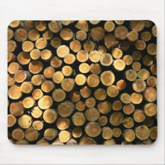 Tree Trunks Pile in the Forest Photo Mouse Pad