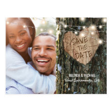 Tree Wedding Save the Date | Rustic String Lights