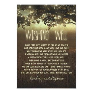 tree wedding wishing well rustic cards 9 cm x 13 cm invitation card