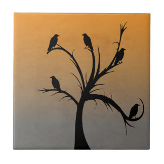 Tree with Crows Tile
