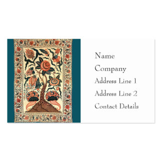 Tree with Flowers and Horns of Plenty, India 1750 Business Card Template