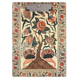 Tree with Flowers and Horns of Plenty, India 1750 Clipboard