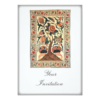 Tree with Flowers and Horns of Plenty, India 1750 Personalized Invite