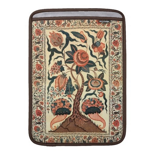 Tree with Flowers and Horns of Plenty, India 1750 MacBook Sleeves