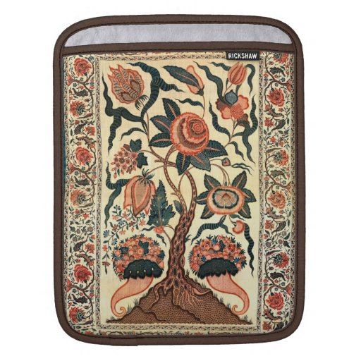 Tree with Flowers and Horns of Plenty, India 1750 Sleeves For iPads