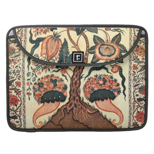 Tree with Flowers and Horns of Plenty, India 1750 Sleeve For MacBooks