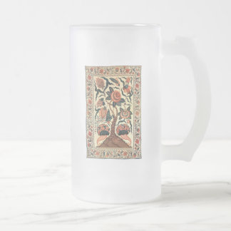 Tree with Flowers and Horns of Plenty, India 1750 Frosted Beer Mugs