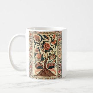 Tree with Flowers and Horns of Plenty, India 1750 Coffee Mug