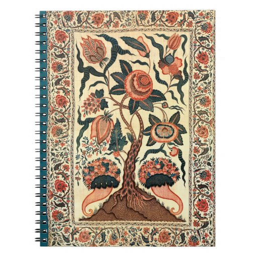 Tree with Flowers and Horns of Plenty, India 1750 Spiral Note Books