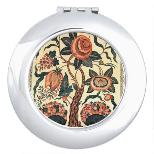 Tree with Flowers and Horns of Plenty, India 1750 Mirrors For Makeup