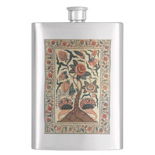 Tree with Flowers and Horns of Plenty, India 1750 Flask