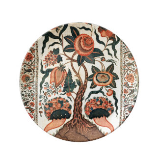 Tree with Flowers and Horns of Plenty, India 1750 Porcelain Plate
