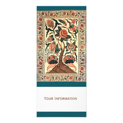 Tree with Flowers and Horns of Plenty, India 1750 Custom Rack Cards