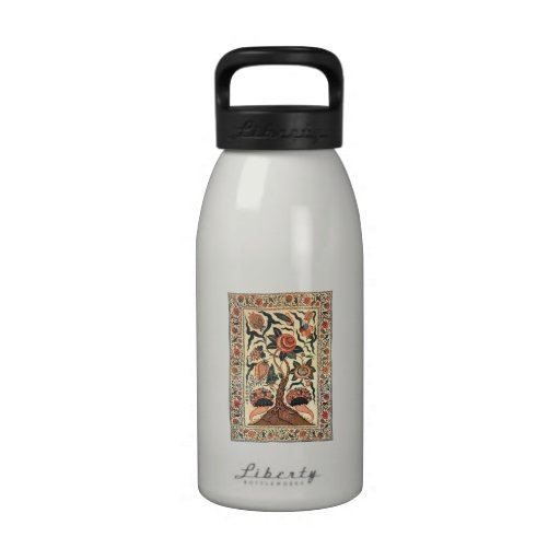 Tree with Flowers and Horns of Plenty, India 1750 Water Bottle