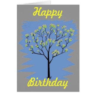 Tree with flowers card