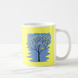 Tree with flowers coffee mug