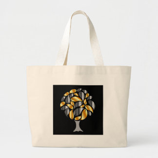 Tree with gold and silver leaves bags