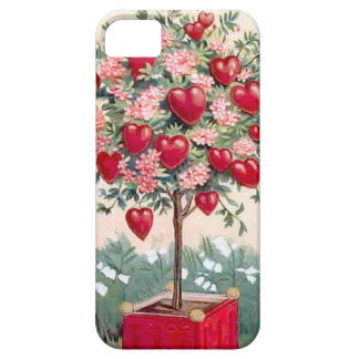 Tree with hearts and blossoms barely there iPhone 5 case