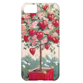 Tree with hearts and blossoms iPhone 5C case