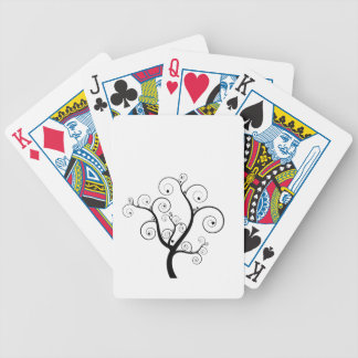 Tree with hearts bicycle playing cards